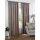 Rapport Sophia Pencil Pleat Blackout Curtains - Taupe