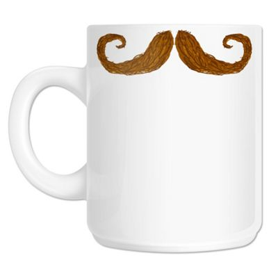 Curly Moustache 10oz Ceramic Mug