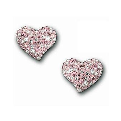 Swarovski Alana Pink Crystal Heart Studs 993487