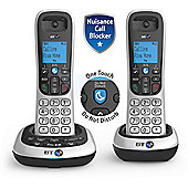 BT 2700 Twin Cordless Home Phone with Call Block & Answer Phone - Silver