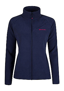 Mountain Warehouse Womens Full Zip Quick Drying Antipill with Super Soft - Blue