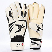 Precision Training Vortex Classic Contact Rollfinger Goalkeeping Gloves - White & Black