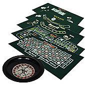 Cq Poker 6-In-1 Games Set +Chips +Roulette + Blackjack