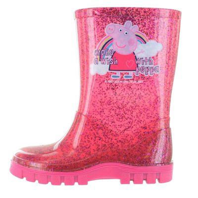 Peppa Pig Glitter Pink Make A Wish Wellington Boots UK Size 4