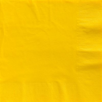 Yellow Dinner Napkins - 2ply Paper - 50 Pack