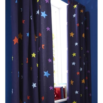 Outer Space, Multi Coloured Star, 72 Curtains