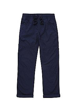 F&F Poplin Trousers - Navy