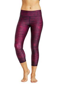 Zakti Womens Printy Leggings Red for Yoga & Dancing Sweat-Wicking 7/8 Leg - 4