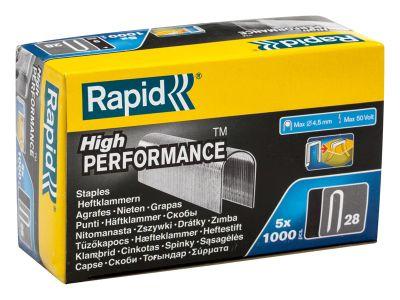 Rapid 28/10 10mm DP x 5m Galvanised Staples Pack 5 x 1000