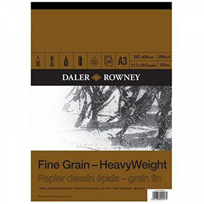 Daler Rowney A3 Heavyweight Cartridge Pad - Fine Grain - Art Store