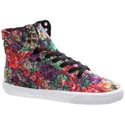 Supra Skytop Floral/White Womens Shoe