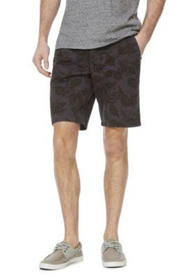 F&F Leaf Print Chino Shorts Multi 32 Waist