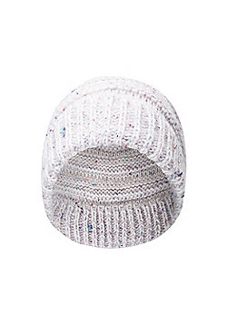 Mountain Warehouse Slouch Pom Pom Womens Beanie - Cream