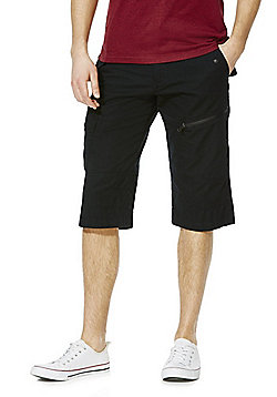F&F 3/4 Length Shorts with Belt - Black
