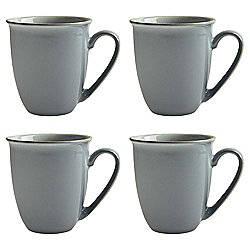 Set of 4 Denby Everyday Cool Blue Mugs