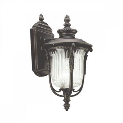 Rubbed Bronze Small Wall Lantern - 1 x 100W E27