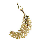 Gold Feather Christmas Tree Decoration