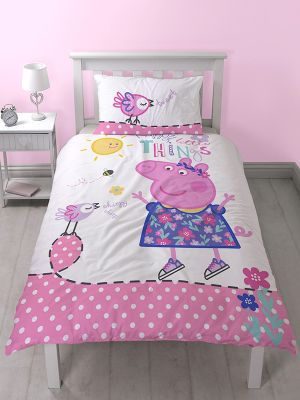 Peppa Pig Happy Single Duvet Cover Set