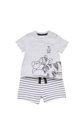 Disney Tigger T-Shirt and Shorts Set Grey 12-18 months