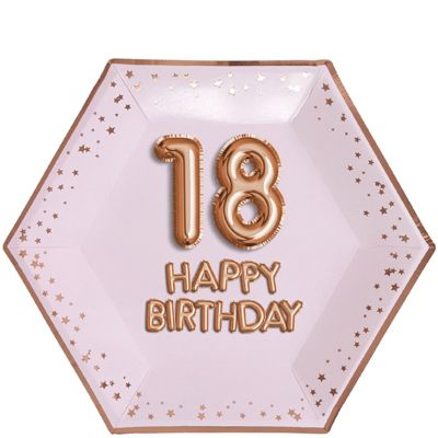 Glitz & Glamour 18th Birthday Plates - 26cm