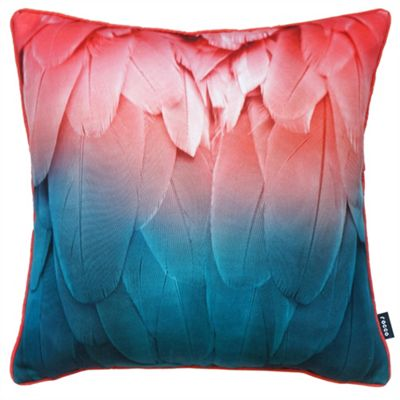 Rocco Feathers Coral Cushion Cover - 43x43cm