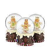 Gingerbread Mini Snow Globe Christmas Decoration