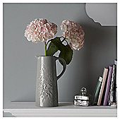 Fox & Ivy Grey Floral Ceramic Jug