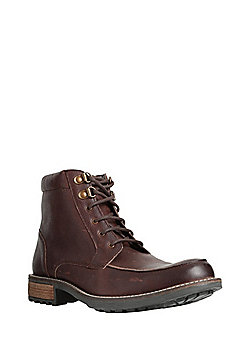 F&F Leather Lace-Up Boots - Brown