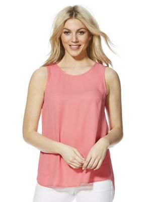 F&F Split Back Shell Top Coral 8