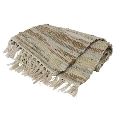Stone Leather Rag Rug
