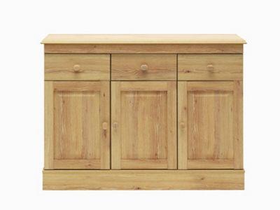 Caxton Driftwood Three Door Sideboard in Limed Oak