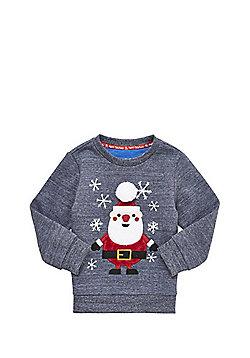 F&F Santa Christmas Sweatshirt - Navy