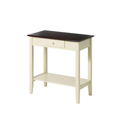Premier Housewares Console Table with Dark Wood Top