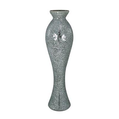 Silver Sparkle Mosaic Extra Tall Vase