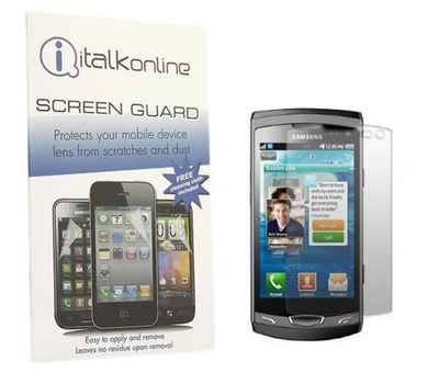 iTALKonline S-Protect LCD Screen Protector and Micro Fibre Cleaning Cloth For - Samsung S8530 Wave 2