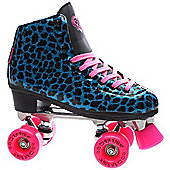 Rio Roller Chic Womens Blue Snake Quad Roller Skates - Blue