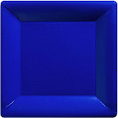 Royal Blue Square Plates - 26cm Paper Party Plates - 20 Pack