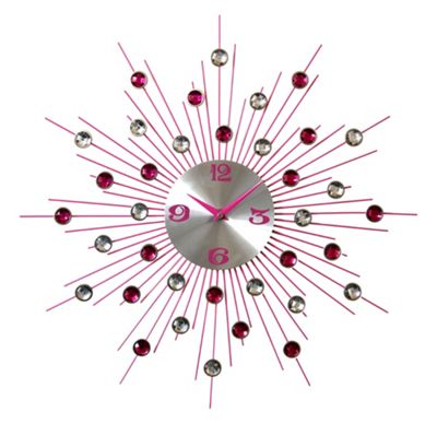 Pharmore Ltd Medium Wall Clock - Pink