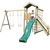 Action Monmouth Wooden Climbing Frame with Swings, Slide and Climbing Net