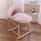 Clair de Lune Dimple Palm Moses Basket (Pink)