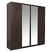 Pello 4 Door Wardrobe with 2 Mirror Doors