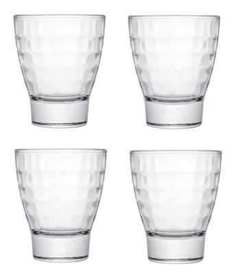 Tavola Luxe Glassware BRICKS Design Glass Tumbler Set of 4 28.5cl