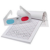 3D 50-page Drawing Pad & Glasses Set