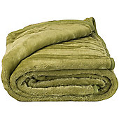 Faux Fur Green Mink Throw Soft Warm Blanket 150 x 200cm