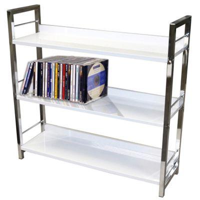 Techstyle 3 Tier Shelf Unit / Bookcase - White
