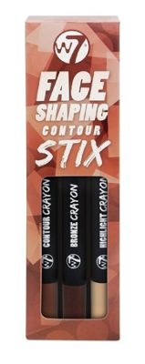 W7 Face Shaping 3 Contour Stix Highlight, Bronzer & Contour Shade