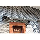 HOMCOM Door Extension Canopy Rain Cover (Brown, 150 x 80cm)