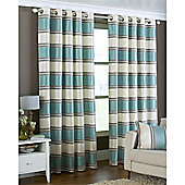 Riva Home Horizon Eyelet Curtains - Duck egg