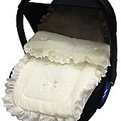 Broderie Anglaise Car Seat Footmuff Baby Silver Cross Simplicity/Ventura Cream