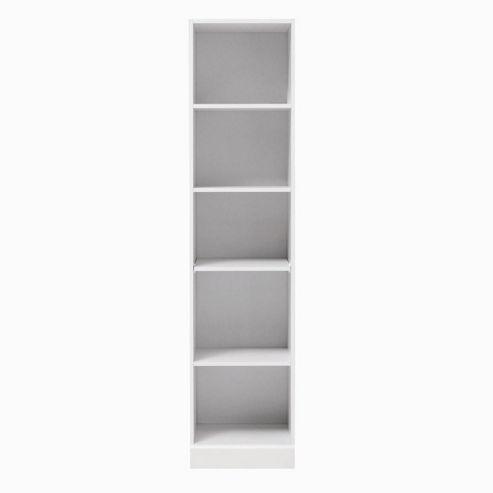 Caxton MyPod Tall Open Bookcase in White